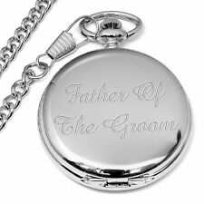 Father Of The Groom Pocket Watch Engraved Personalised Gift Wedding Favour