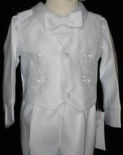 Baby Boy Baptism Christening White Gown Tuxedo Outfit size XS S M L XL (0-24M)