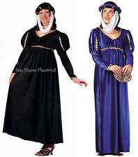 Renaissance Queen Halloween Costume Medieval Suede Dress Adult Woman 81227