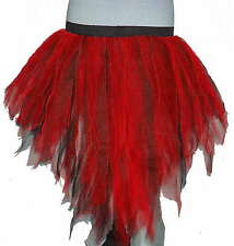 Red BLK Multi Peacock Bustle Tutu Skirt Dance Rave Punk costumes Party 7 layers