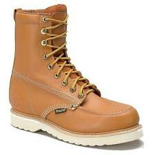 """Rhino 82T06 Mens Butternut 8"""" Oil Resistant Moc Toe Lace Up Work Boots"""