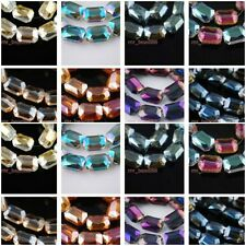 20pcs Colorized Mahjong Square Crystal Glass Necklace Finding Spacer 14x10mm New