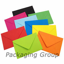 50 C6 Coloured Envelopes for A6 Greeting Cards - 114mm x 162mm - FREE UK POST