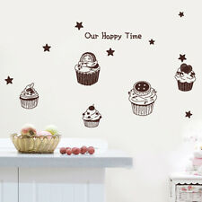 M17 SWEET CUPCAKES Kitchen & Cafe Decor Wall Sticker Vinyl Decals+Tracking No.