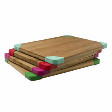 Bamboo Chopping Board Cutting Dicing Kitchen Ware Preparation Eco Non Slip Wood