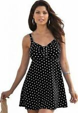 7621      PLUS SIZE 1 Pc Black/White Swimsuit Assorted Sizes Available