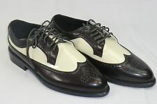 MENS 7 Unlimited Tuxedo Formal Dress Shoes Brown & Ivory Wing Tip