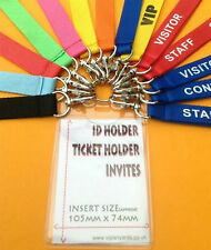 Badge Invites Hen Night Stag Party vip Black Red Pink Blue Lanyard Neck Strap