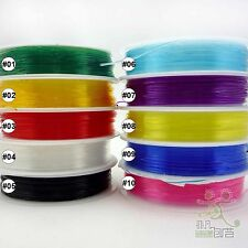 1 Roll Mixed Colors Stretchy Crystal Elastic Cord  Rope String Beading Bracelet