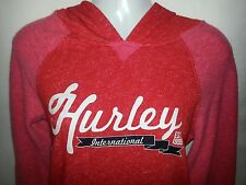 Hurley Womens Pull Over Hoodie Sweater - Red & Pink - Xsmall or Small - NEW