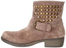 Womens Shoes Steve Madden OUTTLAWW Outlaw Short Ankle Boots Leather Taupe Suede