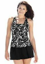 7623   PLUS SIZE 2 Pc Black/White Swimsuit Assorted Sizes Available