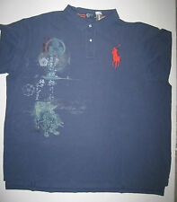 MENS POLO RALPH LAUREN BIG & TALL BLUE DRAGON  POLO SHIRT XLT 2X 3X 4X NEW