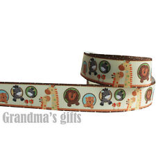 "1""25mm Animals Printed grosgrain ribbon 5/50/100 yards hairbow Wholesale"