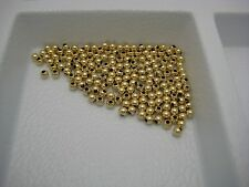 LOT OF SOLID 14K YELLOW 2MM TINY HOLLOW GOLD BEADS