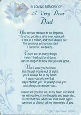 Fathers Day Grave Card - NEW - Memory / Graveside / Dad / Daddy / Grandad