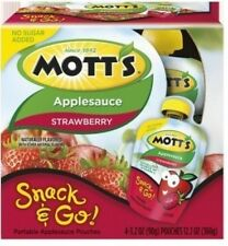 MOTT'S APPLESAUCE SNACK & GO NO SUGAR ADDED SQUEEZABLE FRUIT ~ PICK ONE
