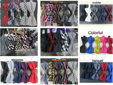 High-quality HOT Tuxedo Adults Necktie Adjustable Man Bow-ties 5pcs Mixed Lot