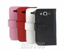 Deluxe Samsung Galaxy S3 i9300 Flip Wallet Leather Card Hard Case Cover Pouch