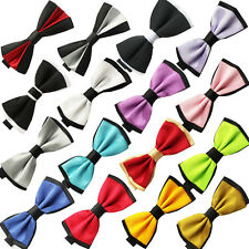1pc Solid Color Two Tone Mens Bowtie Men Tuxedo Bow Tie For Wedding Formal Party