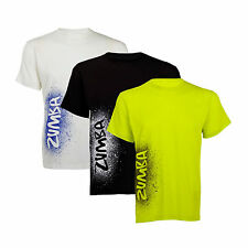 ZUMBA Fitness Cosmic Join the Party Tshirt one size L lime green white NWT