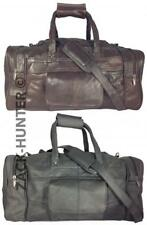 MENS LADIES LEATHER HOLDALL TRAVEL GYM DUFFLE SPORTS CABIN BAG COWHIDE LEATHER