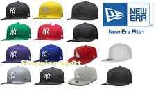 Cappello New Era York MLB Basic Visiera Piatta Baseball NUOVI ORIGINALI red grey
