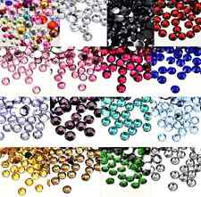 Wholesale Lots 3MM 4MM 5MM 6MM 7MM 8MM DIY Crystal Round Flat Back Rhinestones