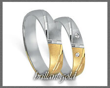 333 Gold inkl. 2x1,6-2mm Brillanten! Ihr individuelles Trauringpaar,Ring ab 249E