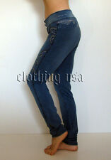 Skinny Jeans Style Brazilian Low Rise Moleton Stretch Women Pants  S,M,L,XL