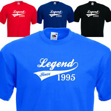 LEGEND SINCE 1995, FUNNY MENS TSHIRT 20th BIRTHDAY PRESENT 7 COLOURS 6 SIZES
