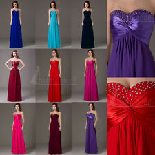 NewLong Prom Dress Bridesmaid Formal Pageant Dresses Party Evening Gown In Stock