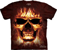 The Mountain Skulbone Skulfire Flaming Burning Skull T Shirt S,M,L,XL,2XL,3XL