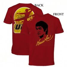 UFC Bruce Lee Immortality T-Shirt MMA Macao Dragon Fight Tee S-3XL