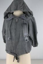 Insound Gray Drawstrings Cropped Hoodie Buddie Junior-2461