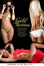 Temporary Tribal Flower Leaf Butterfly Sexy Glamour Back Wrist Gold Tattoos