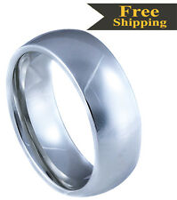 High Grade Tungsten Carbide High Polished Classic Rings- 4mm,5mm,6mm,7mm & 8mm