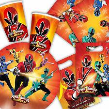 Power Rangers Samurai Childrens Birthday Party Tableware Decorations PA