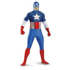 Captain America Deluxe Bodysuit Zentai Stretch Adult Costume | Disguise 50373
