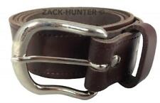 """MENS REAL LEATHER 1.5"""" BROWN BELT FULL LEATHER BELTS MADE IN ENGLAND 26"""" - 55"""""""