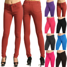 MOGAN Colored Knit SKINNY PANTS Zipper Stretch Slim Trousers Jeggings Leggings