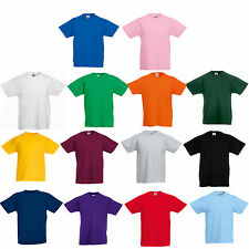 6 x FRUIT OF THE LOOM PLAIN CHILDS T SHIRT ALL SIZES NO LOGO FINE FOR PRINTING
