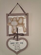 Mamas & Papas Once upon a time Birth Details Personalised Keepsake Plaque
