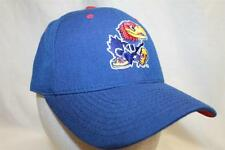 """Kansas Jayhawks Hat Cap """"The Fitted DHS Blue"""" by Zephyr NCAA Hats"""