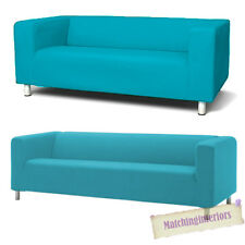 Aqua Cover Slipcover to fit IKEA KLIPPAN 2 or 4 Seater Sofa Settee Replacement