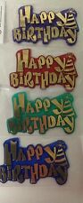 Cake Decorating Topper Plaque Banner - Happy Birthday - 2 lines funky letters