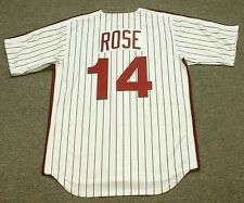 PETE ROSE Philadelphia Phillies 1980 Majestic Cooperstown Home Baseball Jersey