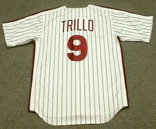 MANNY TRILLO Philadelphia Phillies 1980 Majestic Cooperstown Home Jersey