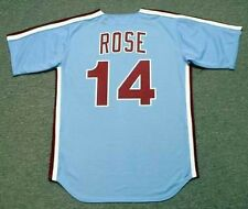 PETE ROSE Philadelphia Phillies 1980 Majestic Cooperstown Away Baseball Jersey