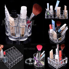 Makeup Case Lipstick Holder Acrylic Cosmetic Jewelry Display Organizer Storage